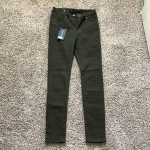 Stretchy denim high rise skinny jeans